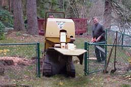 Stump grinding can be done with minimal entry ways and leave no damage to your lawn