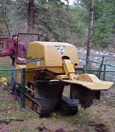 The best stump grinding equipment money can buy. Fits through a minimum of 36 inch entry way